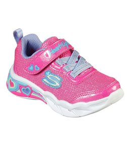 Skechers Girl's Toddler Sweetheart Lights - Shimmer Spells 302304N PKMT