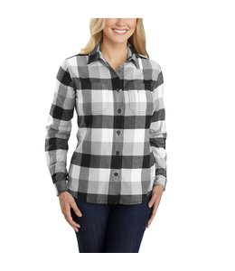 Carhartt Women's Rugged Flex Relaxed Fit Flannel Plaid Shirt 104516