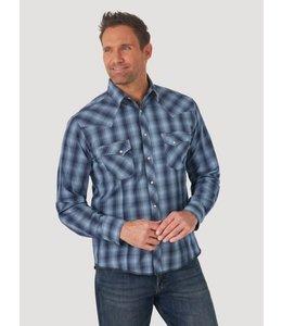 Wrangler Men's Long Sleeve Fashion Western Snap Plaid Shirt MVG310B