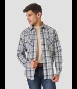 Wrangler Men's Retro Long Sleeve Sawtooth Snap Pocket Western Shirt MV4009X