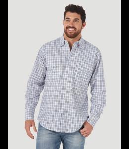 Wrangler Men's Wrinkle Resist Long Sleeve Western Snap Plaid Shirt MWR404B