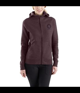Carhartt Women's Force Delmont Graphic Zip-Front Hooded Sweatshirt 103403