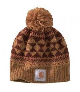 Carhartt Women's Knit Fairisle Pom Pom Hat 104400