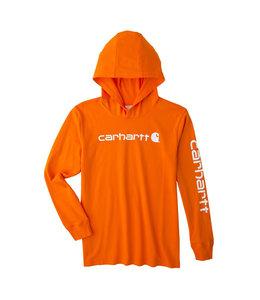 Carhartt Boy's Knit Long Sleeve Hooded Graphic T-Shirt CA6192