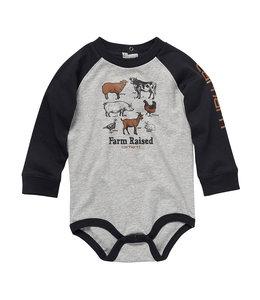 Carhartt Boy's Infant Long Sleeve Crewneck Farm Graphic Bodysuit CA6212