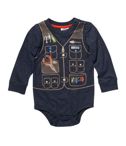 Carhartt Boy's Infant Knit Long Sleeve Crewneck Elk and Fishing Graphic Bodysuit CA6211