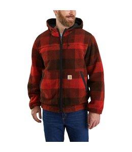 Carhartt Men's Rain Defender Relaxed Fit Fleece Reversible Jacket 104992