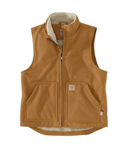 Carhartt Men's Flame-Resistant Duck Sherpa-Lined Vest 104981