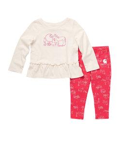 Carhartt Girl's Infant Long Sleeve Graphic Tunic And Printed Legging Set CG9764