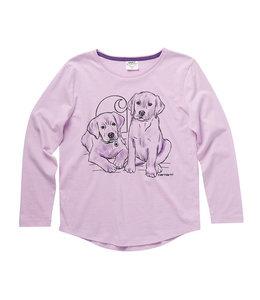 Carhartt Girl's Toddler Long Sleeve Crewneck Animal Love Graphic T-Shirt CA9850