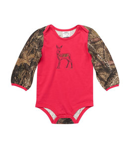 Carhartt Girl's Infant Long Sleeve Camo Deer Bodysuit CA9842