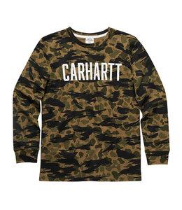 Carhartt Boy's Long Sleeve Crewneck Camo Tee CA6193