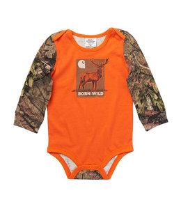 Carhartt Boy's Infant Long Sleeve Crewneck Born Wild Graphic Bodysuit CA6215