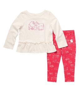 Carhartt Girl's Toddler Long Sleeve Graphic Tunic and Printed Legging Set CG9765
