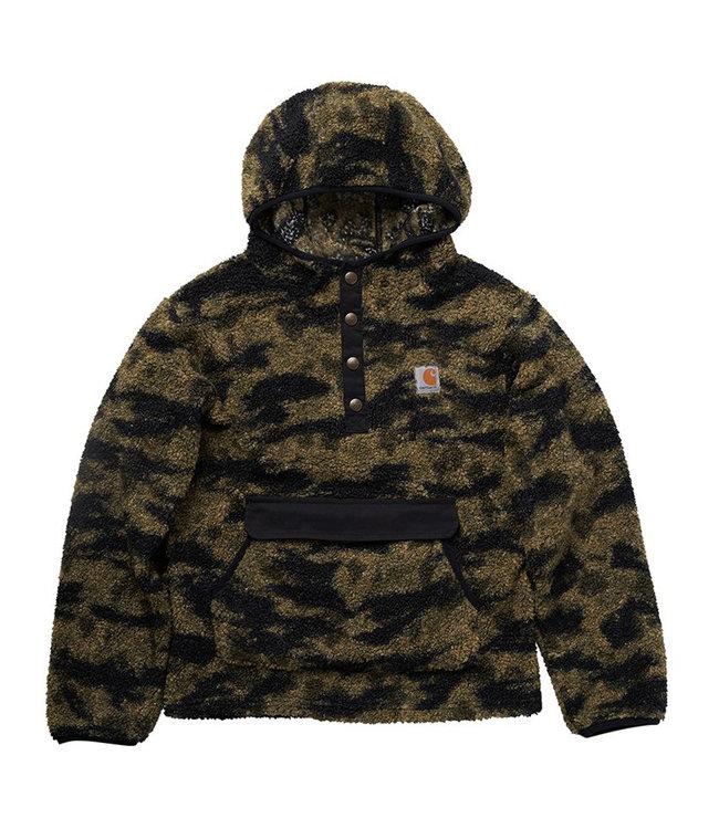 Carhartt Boy's Knit Long Sleeve Hooded 1/2 Snap-Front Camo Sweatshirt CA6200