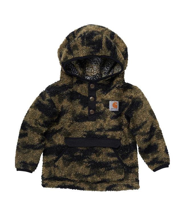 Carhartt Boy's Infant/Toddler Long Sleeve Hooded 1/2 Snap-Front Camo Sweatshirt CA6204