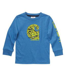 Carhartt Boy's Toddler Knit Long Sleeve Crewneck Outdoor Sport T-Shirt CA6218