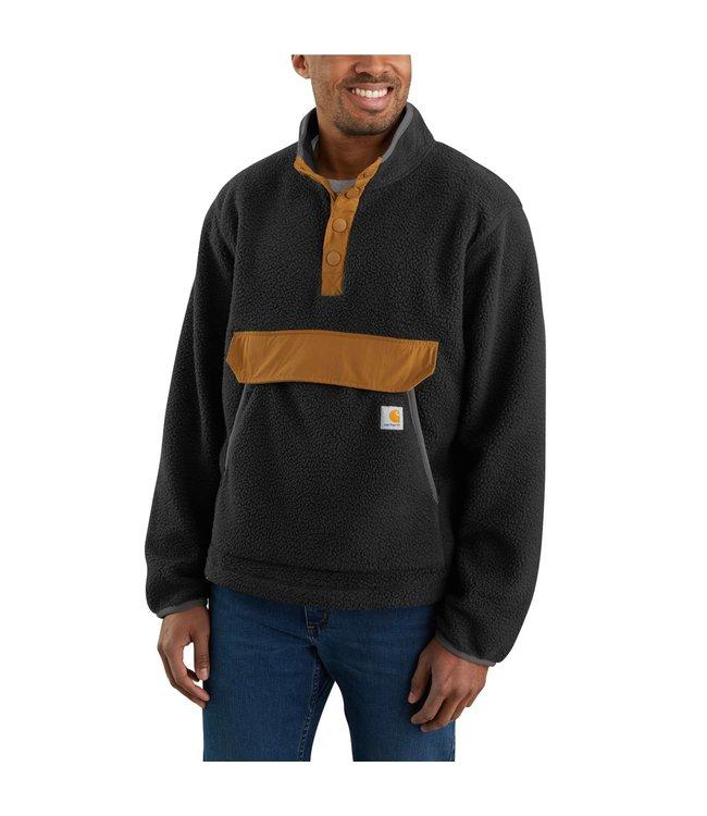 Carhartt Men's Relaxed Fit Fleece Snap Front Pullover Jacket 104991