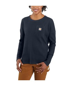Carhartt Women's Relaxed Fit Heavyweight Long-Sleeve Crewneck Pocket Thermal Shirt 105048