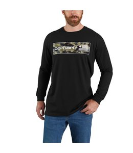 Carhartt Men's Relaxed Fit Midweight Long Sleeve USA Graphic T-Shirt 104898