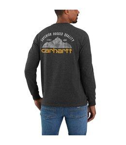Carhartt Men's Relaxed Fit Heavyweight Long Sleeve Mountain Graphic T-Shirt 105058