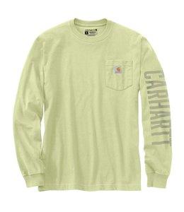 Carhartt Men's Relaxed Fit Heavyweight Long-Sleeve Pocket Logo Graphic T-Shirt 105041