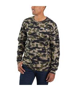 Carhartt Men's Relaxed Fit Heavyweight Long-Sleeve Camo Logo Graphic T-Shirt 105042