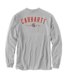 Carhartt Men's Loose Fit Heavyweight Long-Sleeve Pocket Trademark Graphic T-Shirt 105055