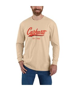 Carhartt Men's Loose Fit Heavyweight Long-Sleeve Hand-Painted Graphic T-Shirt 104890