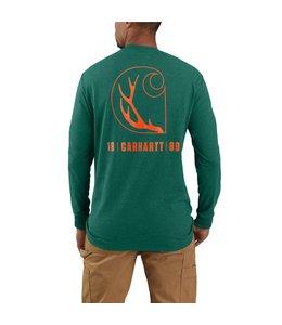 Carhartt Men's Loose Fit Heavyweight Long-Sleeve Pocket Antler Graphic T-Shirt 104896