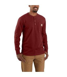 Carhartt Men's Relaxed Fit Heavyweight Long-Sleeve Henley Pocket Thermal Shirt 104429