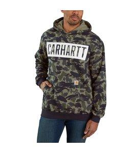 Carhartt Men's Loose Fit Midweight Hooded Camo Graphic Sweatshirt 105061