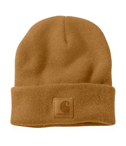 Carhartt Men's Knit Beanie with Leatherette Patch 101070