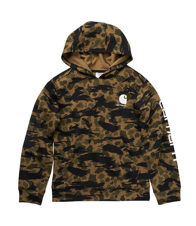 Carhartt Boy's Fleece Long Sleeve Camo Logo Sweatshirt CA6198