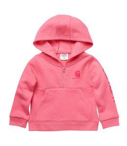 Carhartt Girl's Infant/Toddler Half-Zip Hooded Carhartt Graphic Sweatshirt CA9828