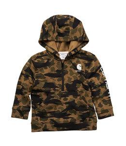 Carhartt Boy's Infant/Toddler Long Sleeve Half Zip Camo Logo Sweatshirt CA6206