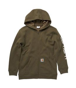Carhartt Boy's Long Sleeve Full-Zip Sleeve Graphic Sweatshirt CP8550