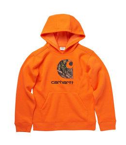 Carhartt Boy's Fleece Long Sleeve Brandmark Sweatshirt CA6199