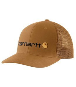 Carhartt Men's Rugged Flex Canvas Mesh-Back Fitted Logo Graphic Cap 104192