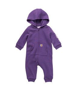 Carhartt Girl's Infant Fleece Long Sleeve Zip-Front Hooded Coverall CM9700