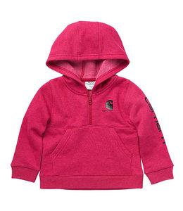 Carhartt Girl's Infant/Toddler Long Sleeve Half-Zip Hooded Graphic Sweatshirt CA9848