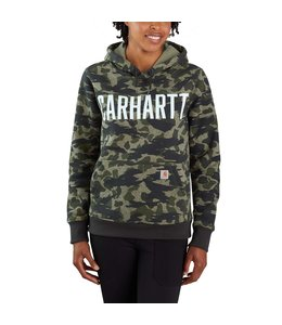 Carhartt Women's Relaxed Fit Midweight Camo Graphic Sweatshirt 105082