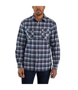 Carhartt Men's Rugged Flex Relaxed Fit Midweight Flannel Long-Sleeve Snap Plaid Shirt 104914