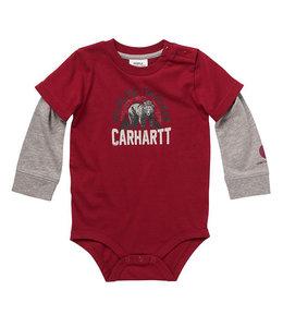 Carhartt Boy's Infant Long Sleeve Crewneck Wilderness Tracker Graphic Bodysuit CA6220