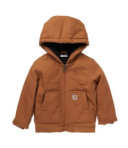 Carhartt Boy's Infant/Toddler Canvas Insulated Hooded Active Jacket CP8552