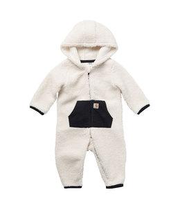 Carhartt Girl's Infant Fleece Long Sleeve Zip-Front Hooded Coverall CM9697