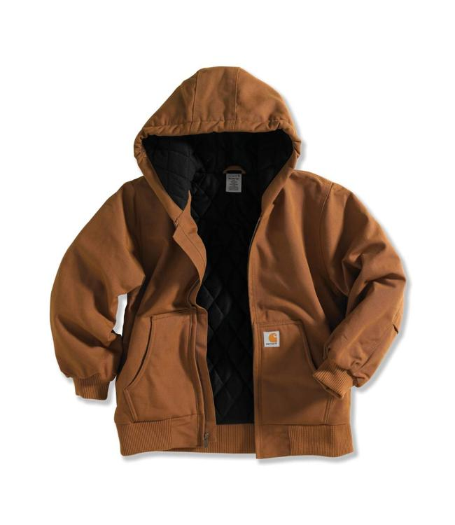 Carhartt Boy's Active Jacket Flannel Quilt-Lined CP8417