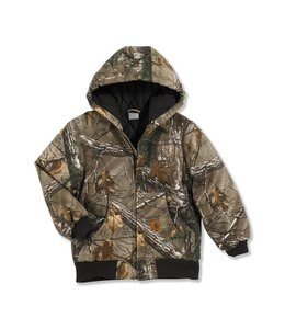 Carhartt Boys Camo Active Jacket Quilt Lined CP8468