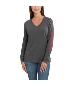 Carhartt T-Shirt V-Neck Long-Sleeve Graphic Sleeve Logo Welton 102765