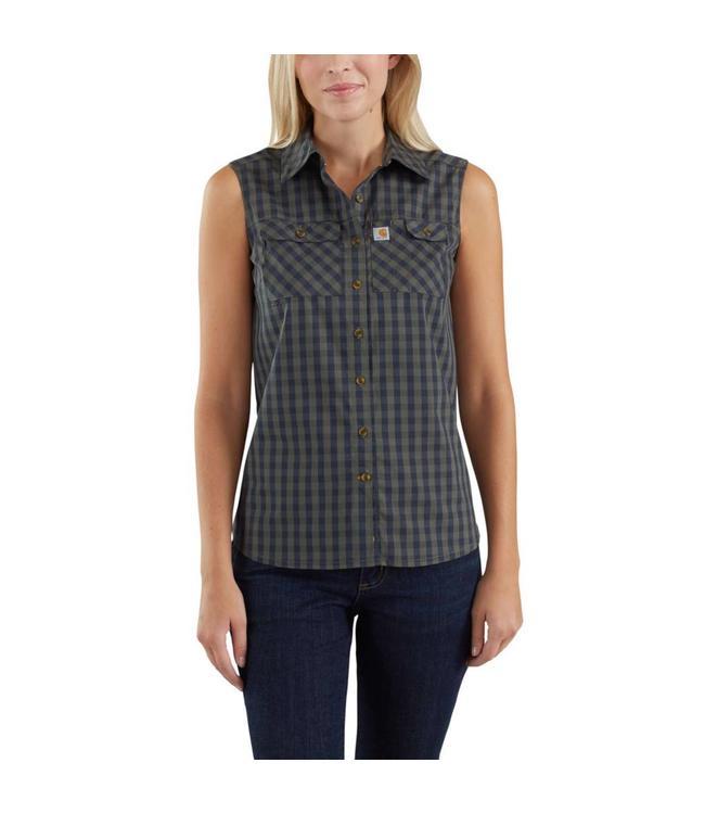 Carhartt Shirt Plaid Sleeveless Force Ridgefield 103082